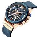 CURREN 8329 Marke Luxus Herren Uhren Leder Sport Uhr Männer Mode Chronograph Quarz Mann Uhr Wasserdicht Relogio Masculino