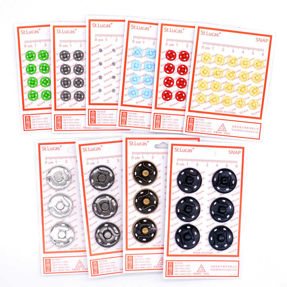 St.Lucas 1 pack metal copper Fasteners Press Button nylon Invisible snap buttons for clothing women children sewing button DIY
