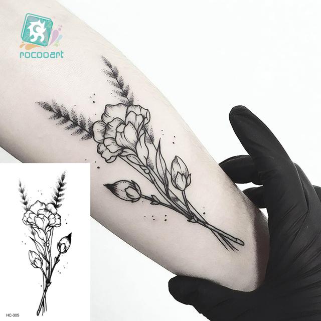 Water Transfer Tattoo Minimalist small sun moon tattoo Body Art Waterproof Temporary fake Tattoo for man woman kid