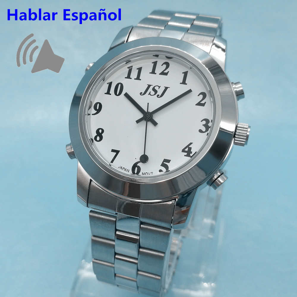 цены  Spanish Talking Watch Hablar Espanol for Blind or Low Vison People with Alarm Function for the Elderly Speaking Quartz