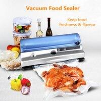 220 V 110 V автоматическая пищевая вакуумная упаковочная машина для пищевых продуктов с 10 шт сумки домашняя электрическая вакуум закаточная ма