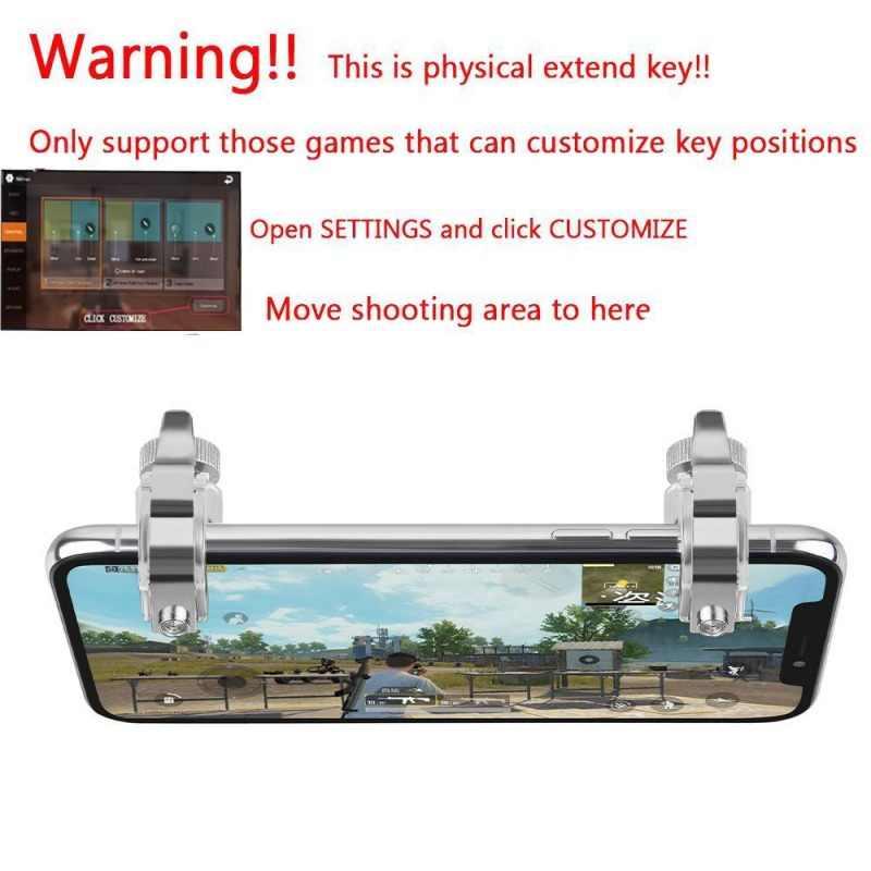 EDAL геймпад мобильный триггер управления для сотового телефона геймпад управления Лер огонь L1R1 игровой шутер для iPhone Android геймпад джойстики
