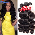 Unprocessed 7A Peruvian Loose Wave Virgin Hair Ms cat Peruvian Remy human hair weave 3 bundle deals Mink Peruvian loose wave