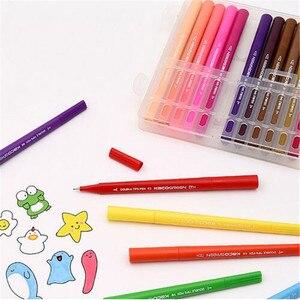 Image 2 - Youpin KACO 36 цветов, акварельные ручки с двойным наконечником, маркеры для рисования граффити, набор для рисования, двойная ручка с кисточкой, нетоксичный безопасный #