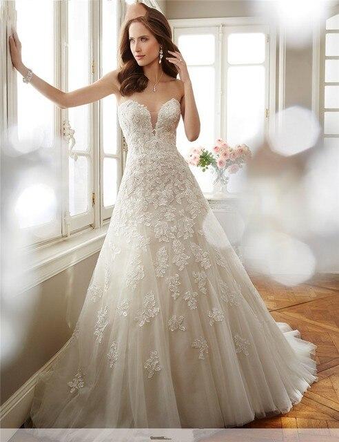 Vestidos De Novia China Bridal Gowns A Line Vintage Lace Rustic ...