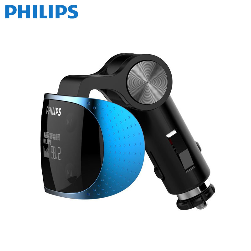 PHILIPS Original Product Car MP3 FM Transmitter G7 + AUX Modulator Car Kit MP3 Player SD USB LCD Car Accessories 1 8 lcd car mp3 mp4 player fm transmitter with remote controller red sd mmc mini usb