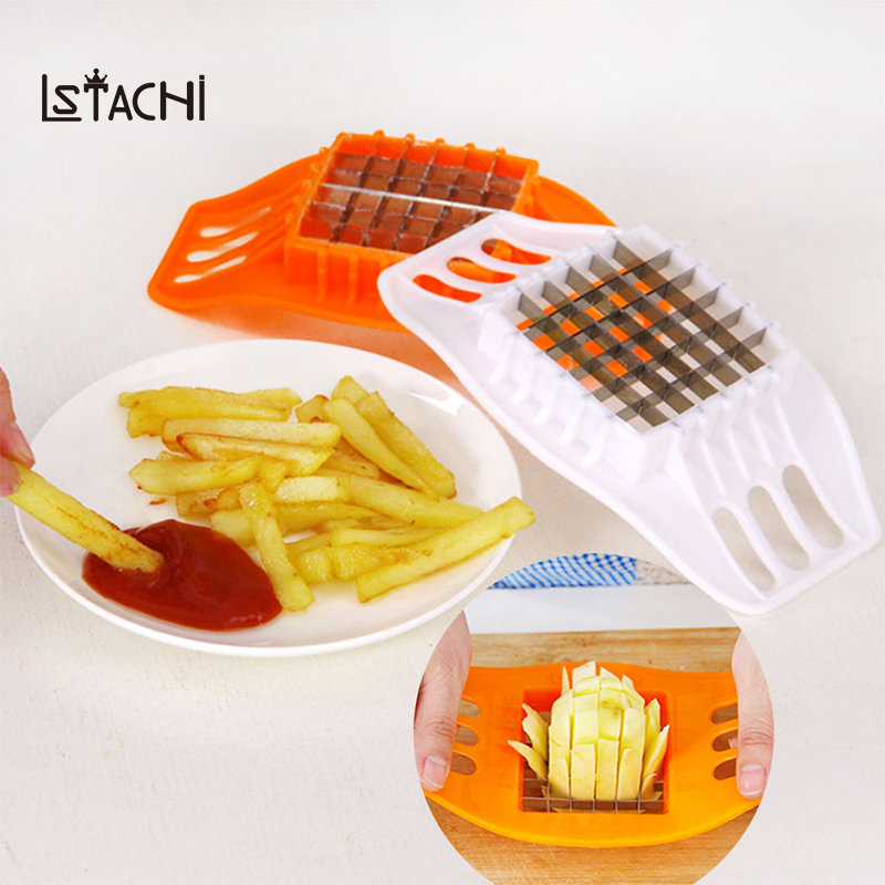 LSTACHi Stainless Steel Vegetable Square Slicer Cutting Device1Pcs Potato Chips Cutter Cut Fries Kitchen Tool French Fry Cutters