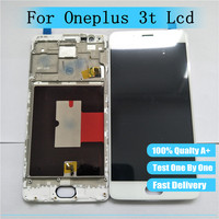 Tested LCD Digitizer For Oneplus 3t A3010 LCD Display Touch Screen With Frame Assembly One Plus