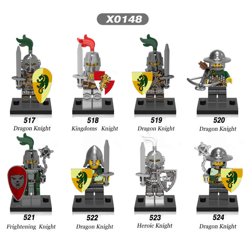 Single Sale Medieval Knights Gladiatus Dragon Frightening Heroic Super Heroes Bricks Building Blocks Children Gift Toys