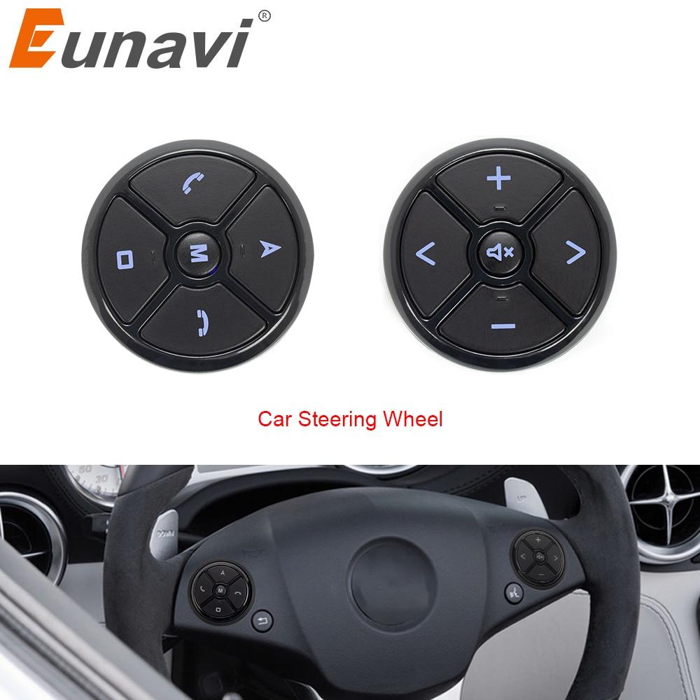 Eunavi Universal Car Steering Wheel Controller 4Key Music DVD GPS Navigation Car Steering Wheel Radio Remote Control Buttons