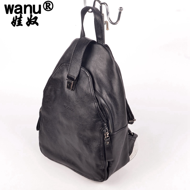 2016 women new vintage casual new style COW leather school bags famous designer brand backpack for