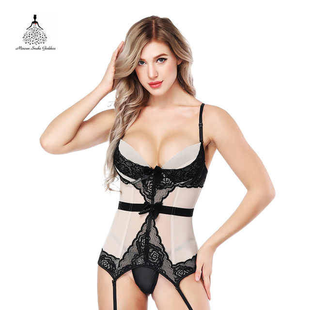 db20925f4cb Corset top Breathable Fabric Elasticity Lingerie Bustier Push Up Chest corset  Plus Size Gothic steampunk corselet Burlesque