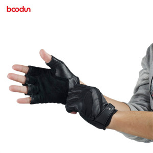 Image 5 - Boodun Genuine Leather Gym Gloves Men Women Breathable Crossfit Fitness Gloves Dumbbell Barbell Weight Lifting Sports Equipment