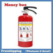 Hot Fire extinguisher money boxes coin bank 21.5*9.4*8.5cm free shipping