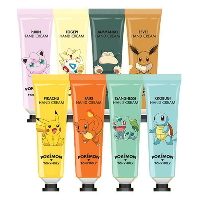 Korea Cosmetic Pokemon Hand Cream 30ml Pokemon Edition 8 Type Moisturizing Moisturizing Hand Cream