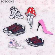 ZOTOONE Fashion Custom Shoes Patch Anime Iron On Cartoon Sewing Patch DIY Kids Cheap Embroidered Cute Patches For Clothes Badge(China)