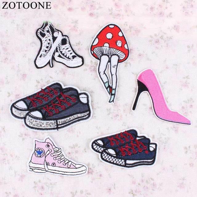 60e865a7e2fd ZOTOONE Fashion Custom Shoes Patch Anime Iron On Cartoon Sewing Patch DIY  Kids Cheap Embroidered Cute