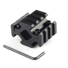 4-sided Guide Rail 3 Slot Sight Clip 1PC Universal Barrel Mount 4 Rail Picatinny Weaver Rail Fit For Scope Optics Lasers Hunting(China)
