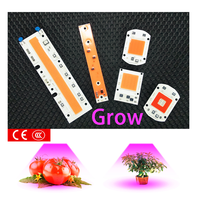 Full spectrum 380-840nm instead of sunlight cob led chip 50W light beads for DIY grow lamp for greenhouse Hydroponics planting