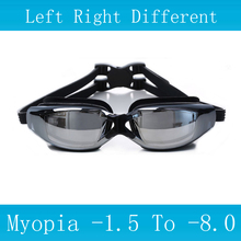 New Swimming glasses myopia Anti-Fog silicone goggles Waterproof arena Adult professional swim eyewear Optical