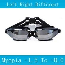 New Swimming glasses myopia Anti-Fog silicone goggles Waterproof arena Adult professional swim eyewear Optical