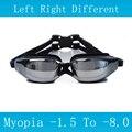 Nuevas gafas de natación miopía antiantiniebla gafas de silicona impermeable arena profesional para adultos gafas de natación gafas ópticas de natación