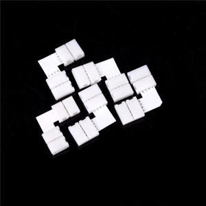 5pcs Solderless L Shape 90 Degree Corner Connectors Rgb 4 Pin Connectors For 12V 5050 10mm Width LED RGB Strip