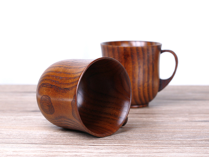 250ml Jujube Wood Mug Japanese Style Wooden Tea Cups with Handgrip Hand-made Wood Cups for Coffee Milk Home Bar Drinking Cups (9)
