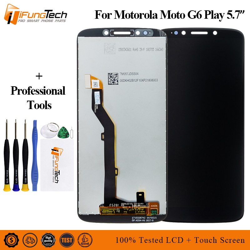 For Motorola Moto G6 Play LCD Display Touch Screen Panel for XT1922 Mobile Phone Lcds Digitizer Assembly Replacement Parts 5.7