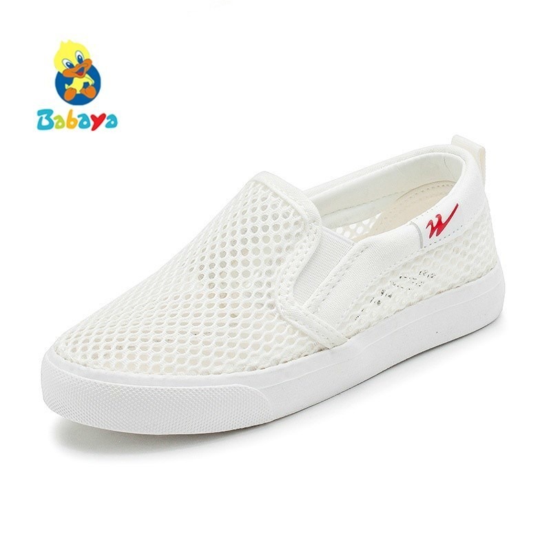 2018 Children Shoes Boys Sneaker Summer New Fashion Kids Shoes For Girls Sports Shoes White Mesh breathable Children Sandals 2018 spring summer autumn new mesh breathable leather kids shoes casual sports white flat boys girls board shoes