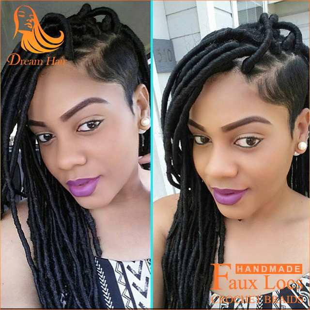 2packs 18 Inch Black Women Hairstyles Fauxlocs Synthetic Crochet
