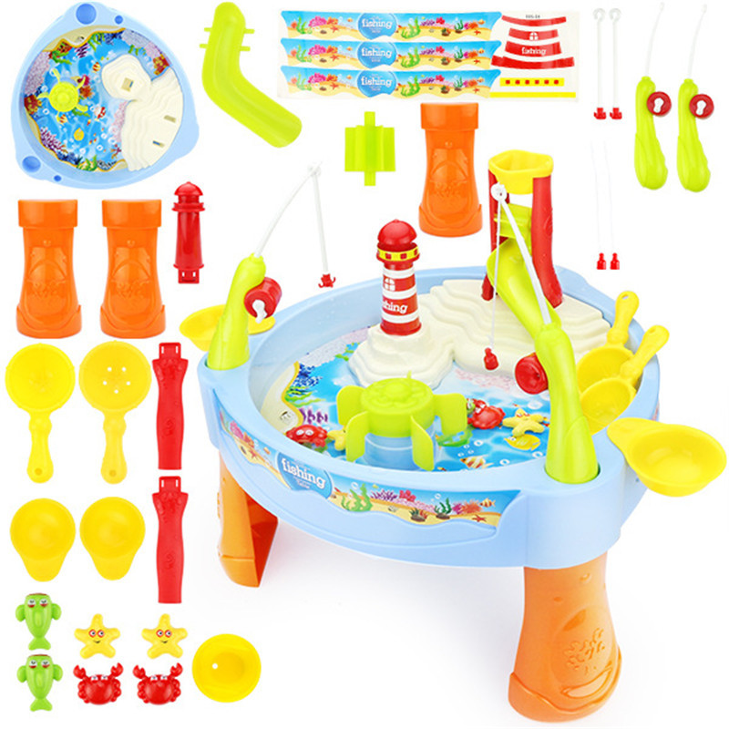 parent and child toys family toys children fishing educational toy baby pretend Play toy Simulation kitten fishing park sets