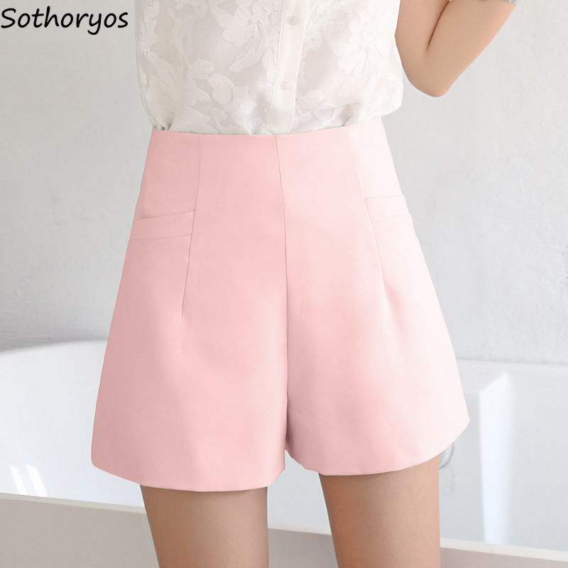 Shorts Women High-waist Chiffon Summer 2019 New Loose Leisure Trendy Simple Womens Clothing Comfortable Korean Style Daily Chic