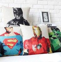 # 1041 איש ברזל נוקמי קפטן אמריקה האלק סופרמן פשתן כריות כיסוי ספה במשרד כיסוי מיטת בית רכב סיטונאי דצמבר