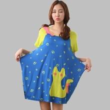 Casual Nightshirts large size cotton nightie cartoon nightgowns female short sleeve women sleepwear night dress sleepshirts