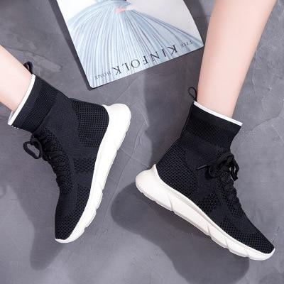 Haute Version Automne De L'original 2019 Sauvage Deportiv 1 Calzado Nouvelle Super Coréenne Harajuku Feu 2 Chaussettes Chaussures PRq4q