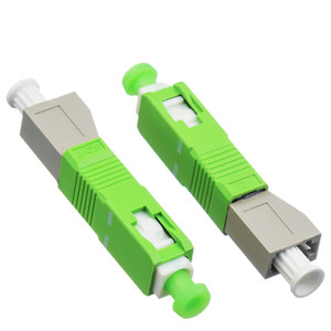 Image 5 - SC/APC stecker auf LC weibliche MM modus Fiber optic koppler flansch stecker adapter