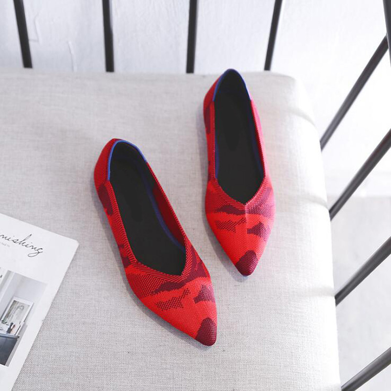 Femmes Semelle Occasionnel red Respirant Bout Automne Rouge Genshuo Chaussures Peu Souple Confortable Pour Plat grey Nouveau Black À Pointu Profonde xIWRfwvq