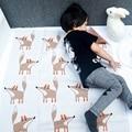 KIKIKIDS 16 Baby Boy Girls Resto Fox Patrón Mantas de Aire Acondicionado Manta, Mantas De Punto de Cobertura y Cuna Del Bebé Cama manta
