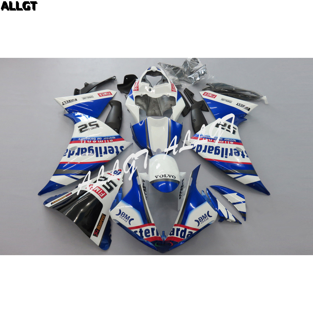 Mold Injection Bule White Fairing kit Bodywork for YAMAHA YZF R1 2009 2010 2011