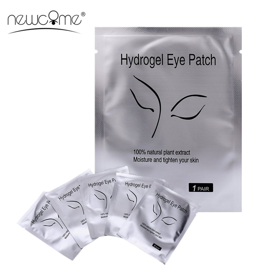 NEWCOME 20/30/50/100 Pairs Lint Free Eye Pads For Eyelash Extension High Quality Eye Gels Patches for Makeup Tools ...