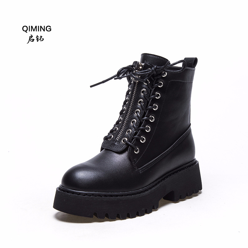 Martin boots female 2018 autumn and winter new short boots thick bottom plus velvet cotton boots wild casual women's boots Z40 odeon light бра odeon light piemont 3998 2w page 1