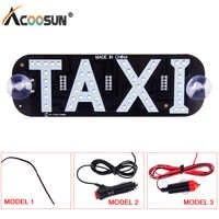 Caja de luz Acoosun Led indicador de parabrisas de Taxi para coche caja de luz de Taxi señal azul LED parabrisas para Taxi lámpara de luz DRL cc 12V
