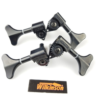 NEW Wilkinson Electric Bass Guitar Machine Heads Tuners Guitar Tuning Pegs Open Gear WJB 750 Black