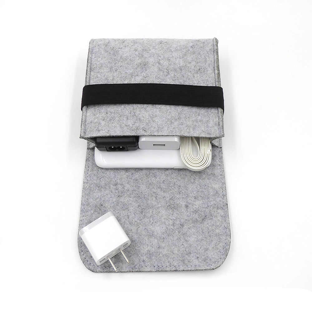 Nieuwe goedkope voelde opbergtas mini power bank geval - Home opslag en organisatie - Foto 3