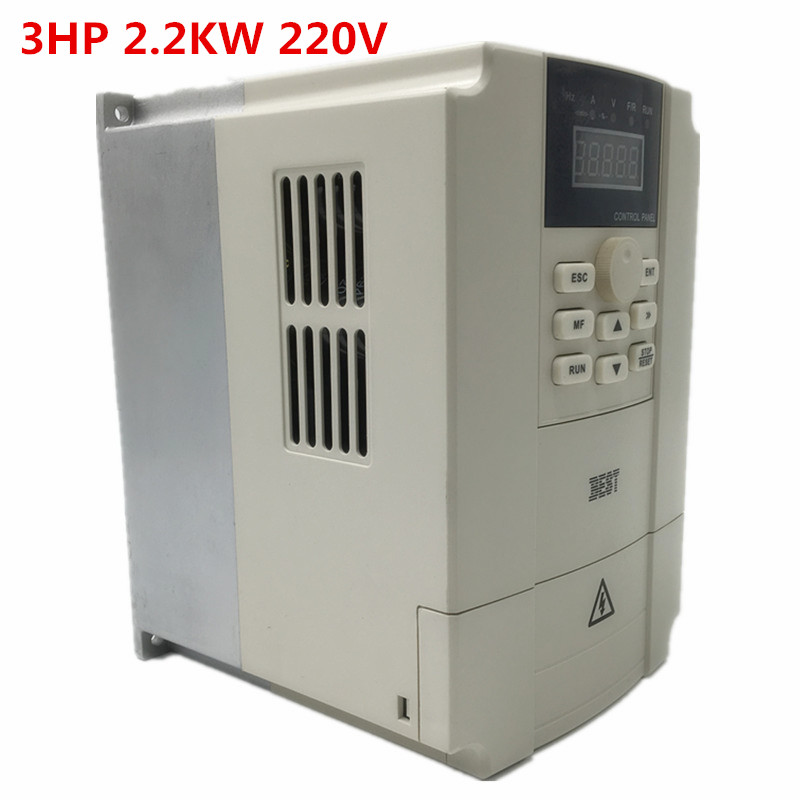 New <font><b>2.2KW</b></font> Single Phase VFD <font><b>Inverter</b></font> Variable Frequency Drive 3HP 11A 1000Hz 1PH AC220V for Printing Press and CNC <font><b>Spindle</b></font> Motor image