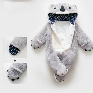 Image 4 - Loozykit, mameluco infantil, Mono para bebés y niñas, ropa para recién nacidos, ropa con capucha para bebés, ropa para bebés con bonito Koala, mameluco para bebés