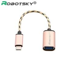 タイプcオスusb 3.0メスotgデータケーブルアダプタコンバータUSB CケーブルS8 macbook xiaomi mi5 6 4C huawei社P9 lg