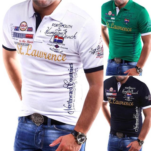 Zogaa brand New Mens Polo Shirt Slim Fit Short Sleeve Shirt Polos fashion printed cotton casual male polo shirts men clothing 6