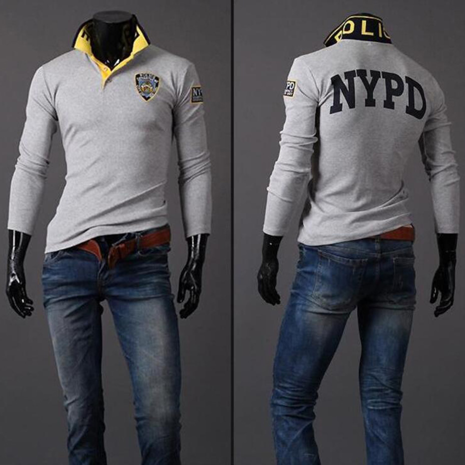 ZOGAA 2019 Autumn Spring Men Breathable Casual Cotton Printed Mens Long Sleeve   Polo   Shirt Fashion Brand   Polo   Shirt
